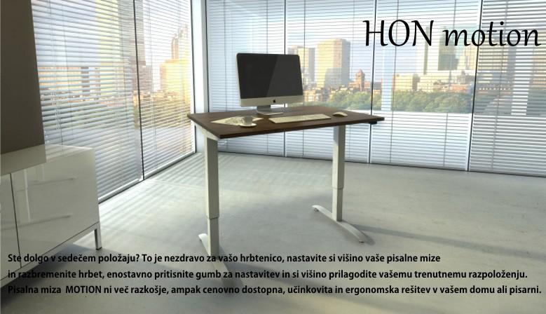 Po višini nastavljiva pisalna miza
